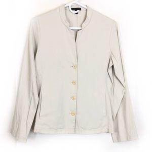 EILEEN FISHER Mandarin Collar Blazer Jacket